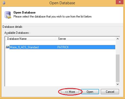 open database2